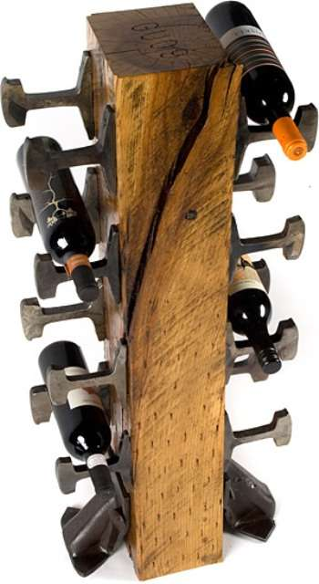 Railroad Wine Rack