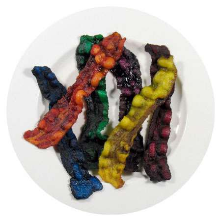 Edible Colored Bacon