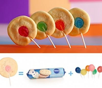 Rainbow Cookie Lollipops