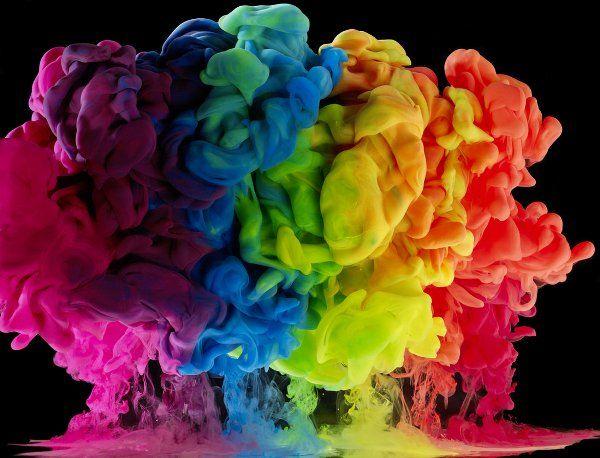 Submerged Rainbow Exploding Photography