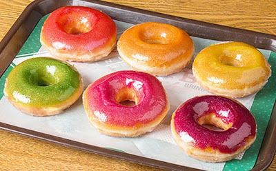 Sparkly Rainbow Donuts