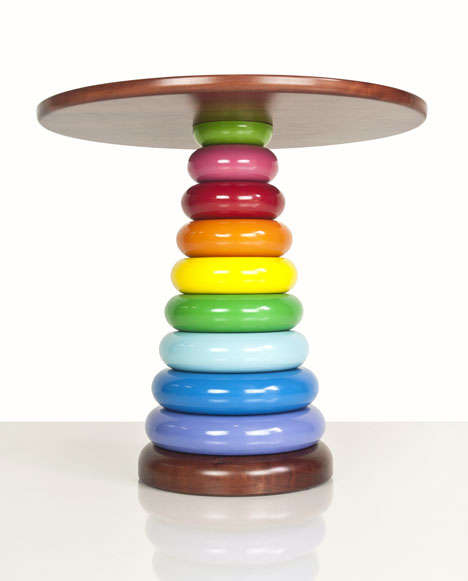 Rainbow Side Table