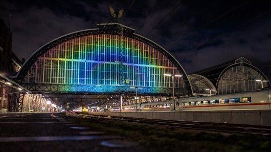 Rainbow-Adorned Train Stations