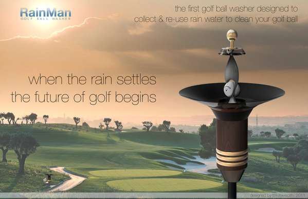 RainMan Golf Ball Washer