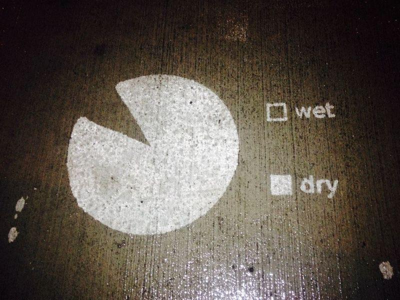 Rain-Activated Street Art