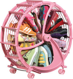 Revolving Children's Shoe Racks