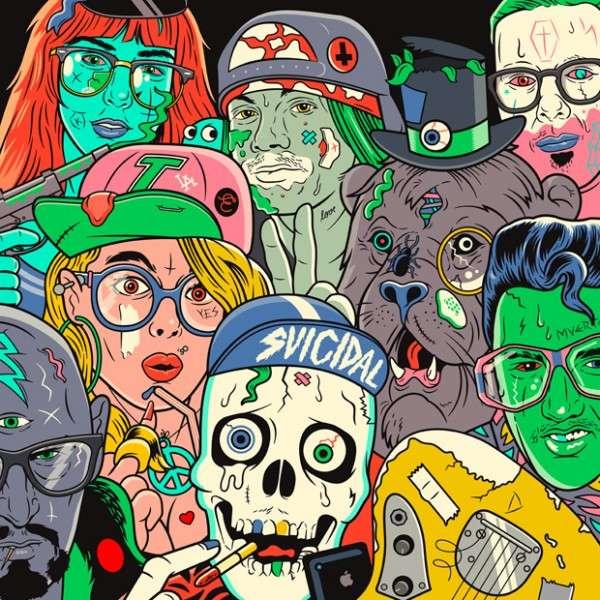 Technicolor Hipster Art