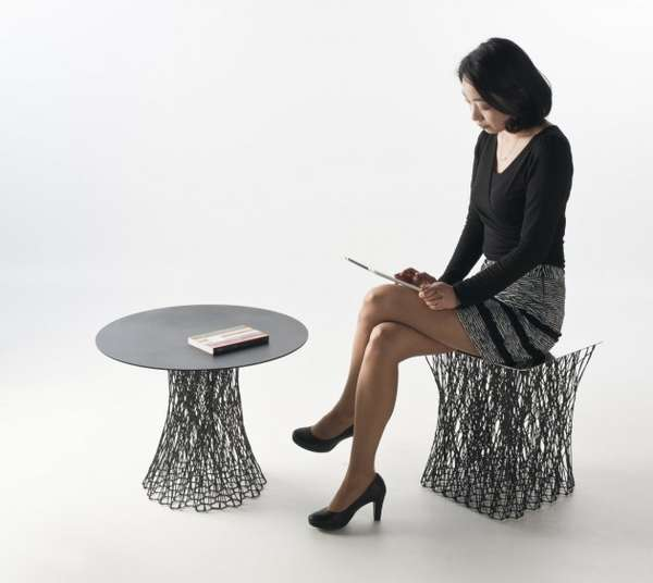 Rami Stool and Side Table