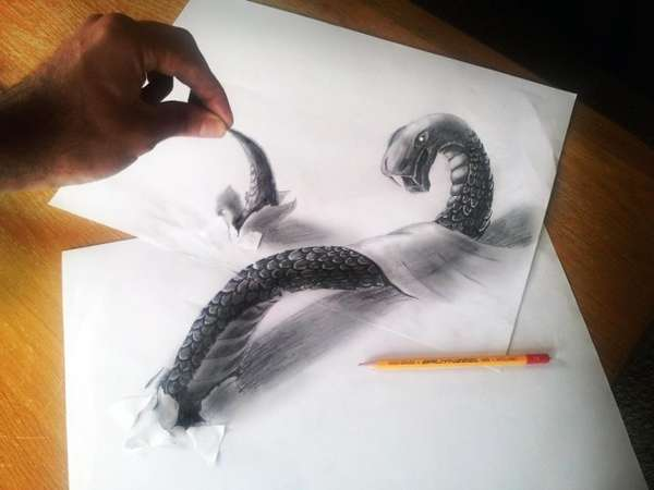 Mystical Creature Illusionist Drawings