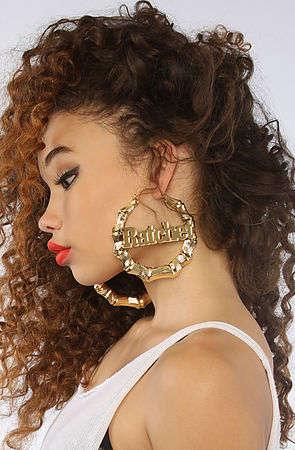 Oversized Slang Jewelry Ratchet Earrings