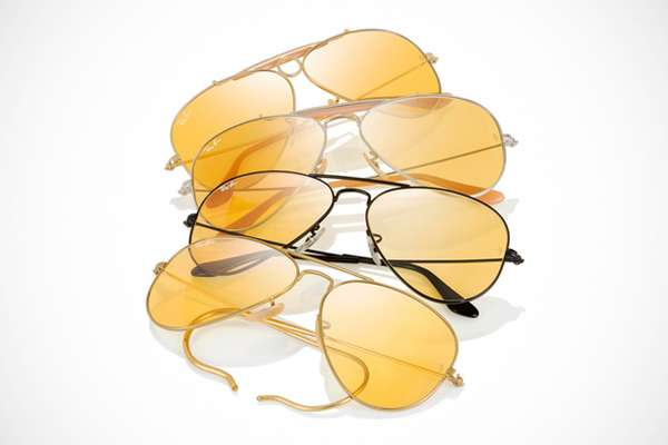 Reactive Golden Sunglasses