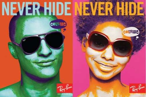 5bdaee53a3f Real Life vs. Photoshop Ads  Ray-Ban Colorize Campaign Asks You to ...