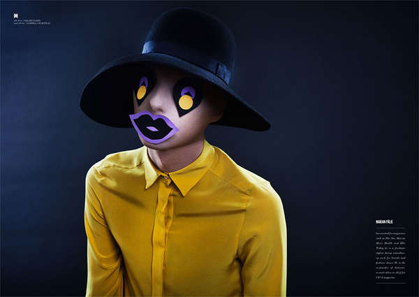 Clown-Inspired Masked Editorials