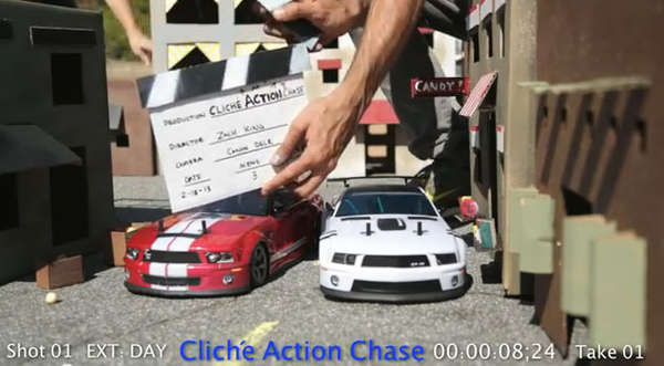 Toy RC Car Chases