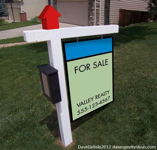 Real Estate Signs : Board game inspired signage real estate sign