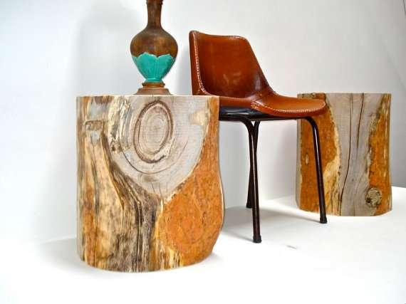 Upcycled Tree Stump Furnishings