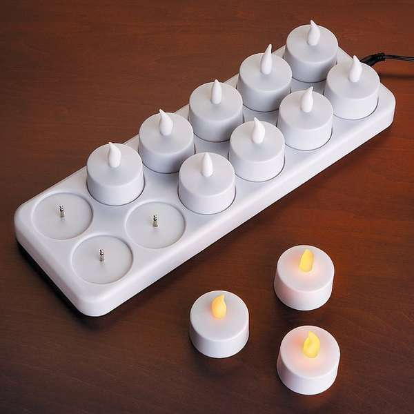Electrically Charged Tealights