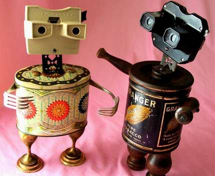 Reclaimed Materials Robots