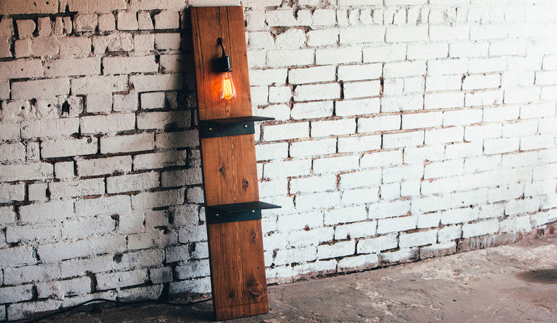 Upcycled Light Shelving