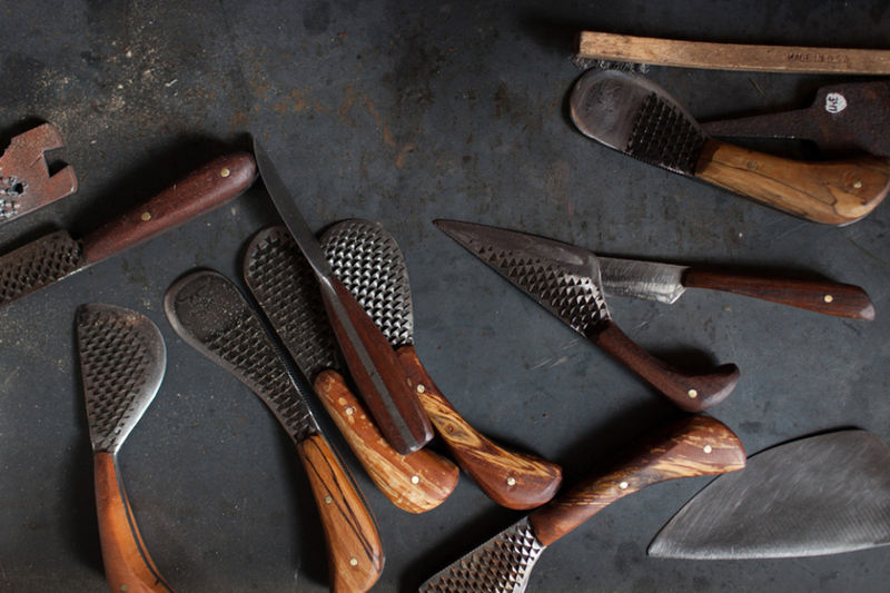 Reclaimed Wood Knives