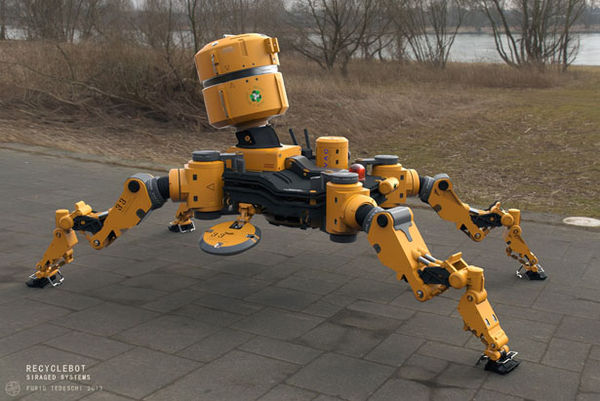 Mechanized Street Sweepers Recycle Bot By Furio Tedeschi