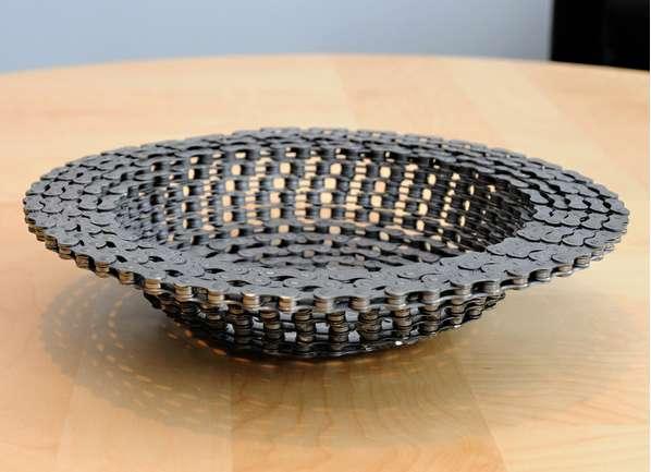 Recycled Bike Chain Bowls