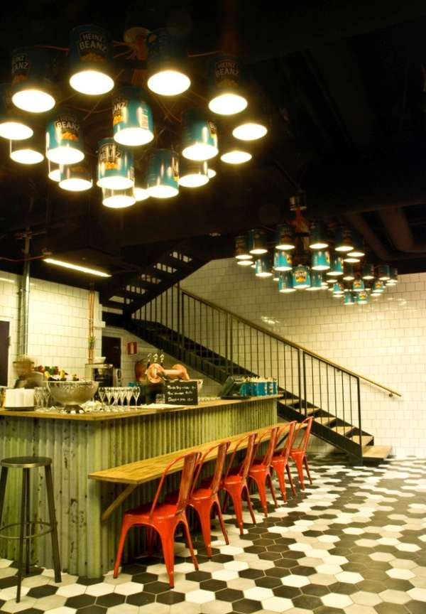 Recycled Can Chandeliers