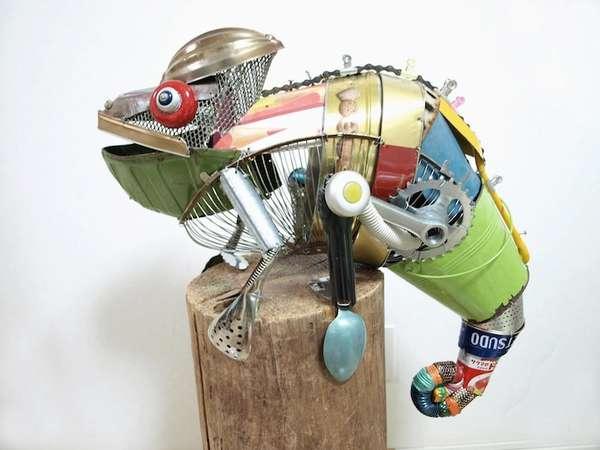 Eco-Friendly Animal Sculptures