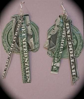 Recycled Money Jewelry