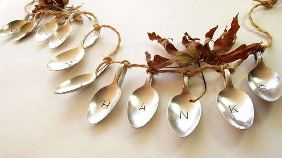 Recycled Silverware Garland