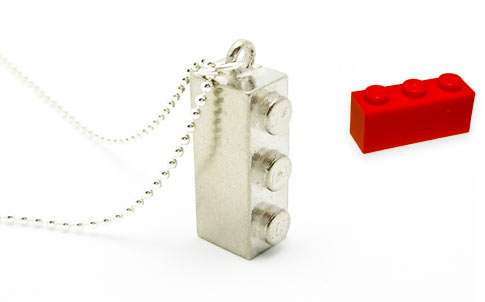 Recycled Toy Block Necklaces