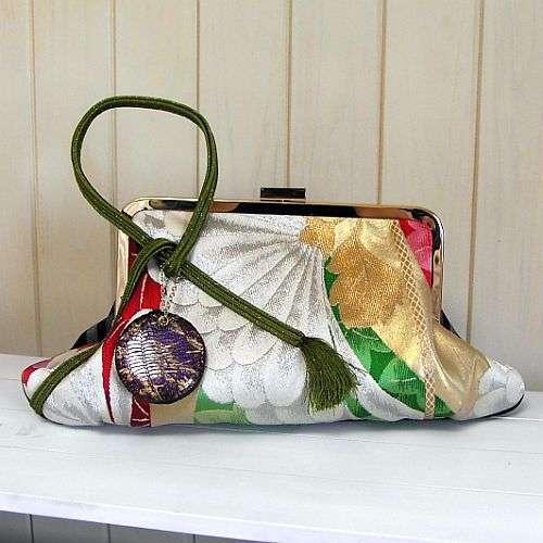 Recycled Kimono Clutches