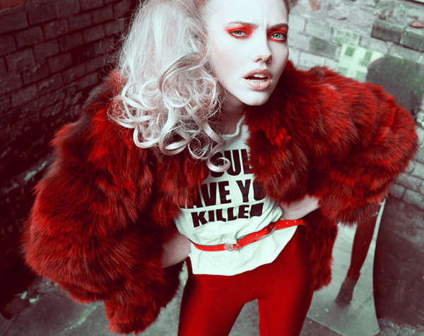 Rebellious Red Fashion Photos