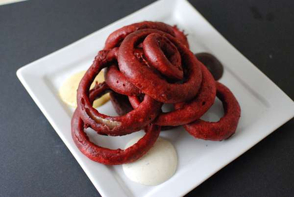 Red Velvet Battered Onion Rings