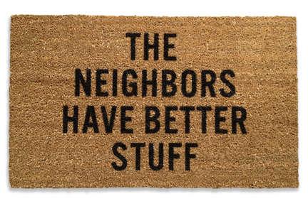 Punchy Coco-Fiber Doormats