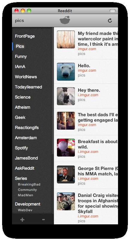 Streamlined News Site Apps