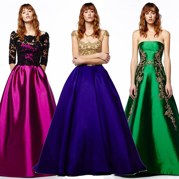 Vibrant Jewel-Toned Gowns