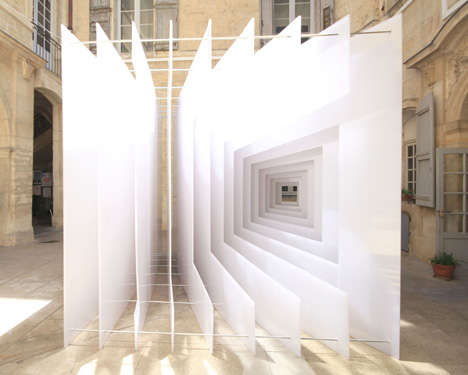 Optical Illusion Structures : Reframe Art Installation