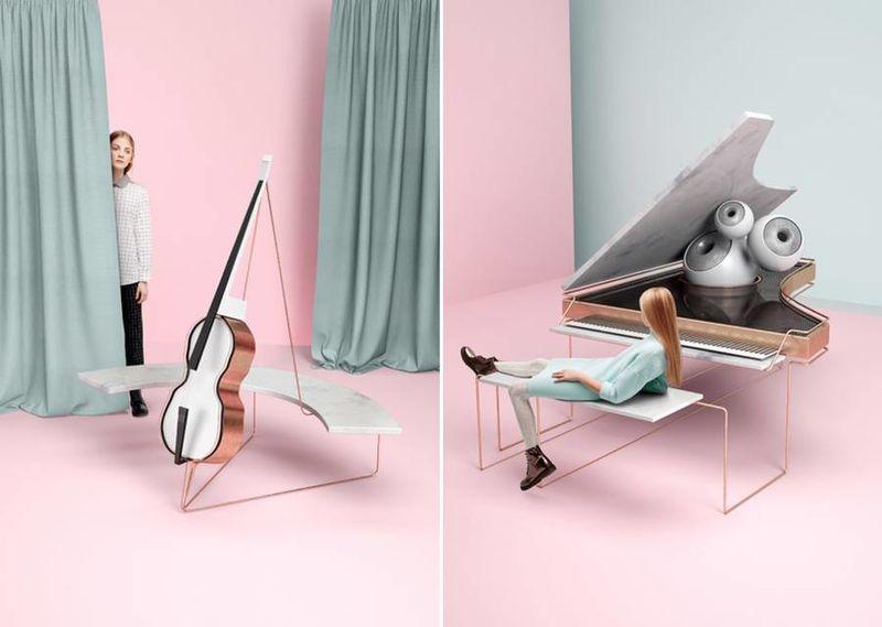3D Instrument Illustrations