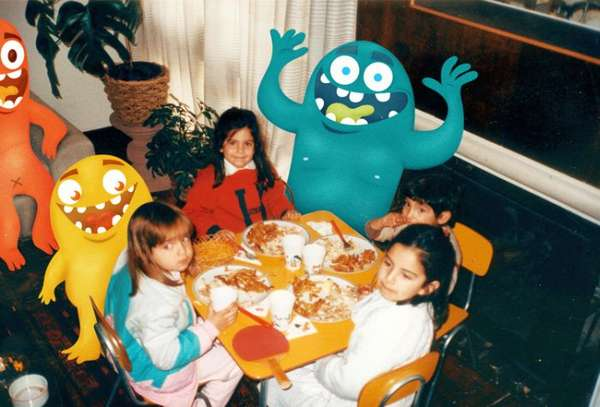 Cartoon Monster Photobombs