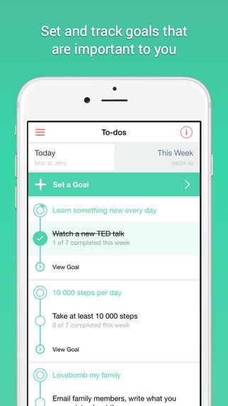Motivational Goal-Setting Apps
