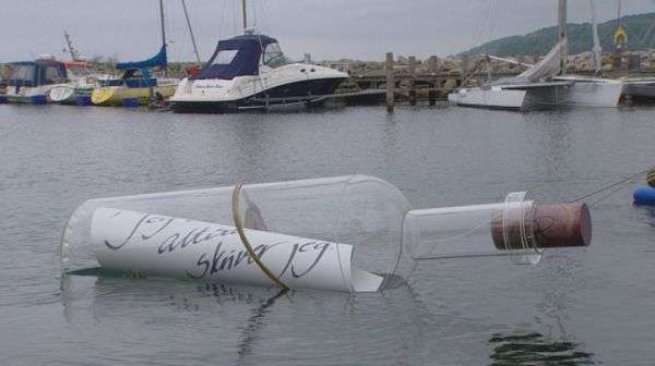 Giant Message-In-A-Bottle Sculpture