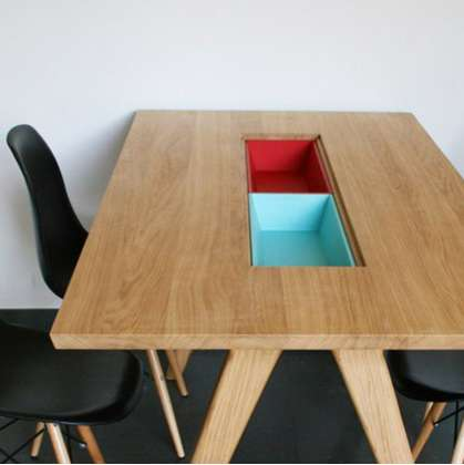 Sleek Compartmentalized Tables