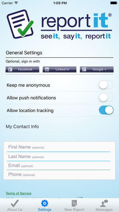 Confidential Crime-Reporting Apps