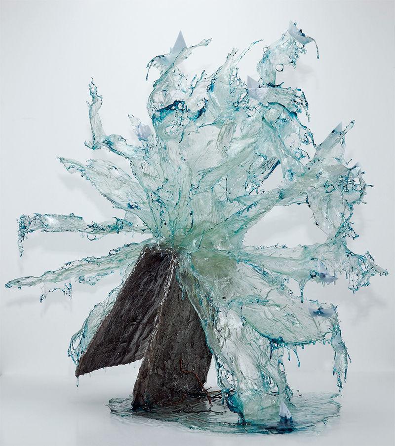 Fluid Resin Sculptures