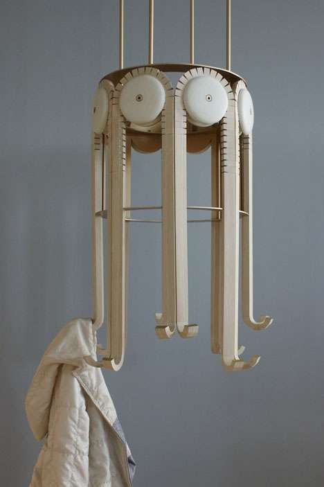 Wooden Gear-Like Hangers