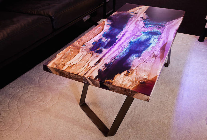 multi hued wood tables restored wood. Black Bedroom Furniture Sets. Home Design Ideas