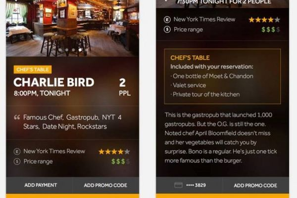 Restaurant-Reserving Apps