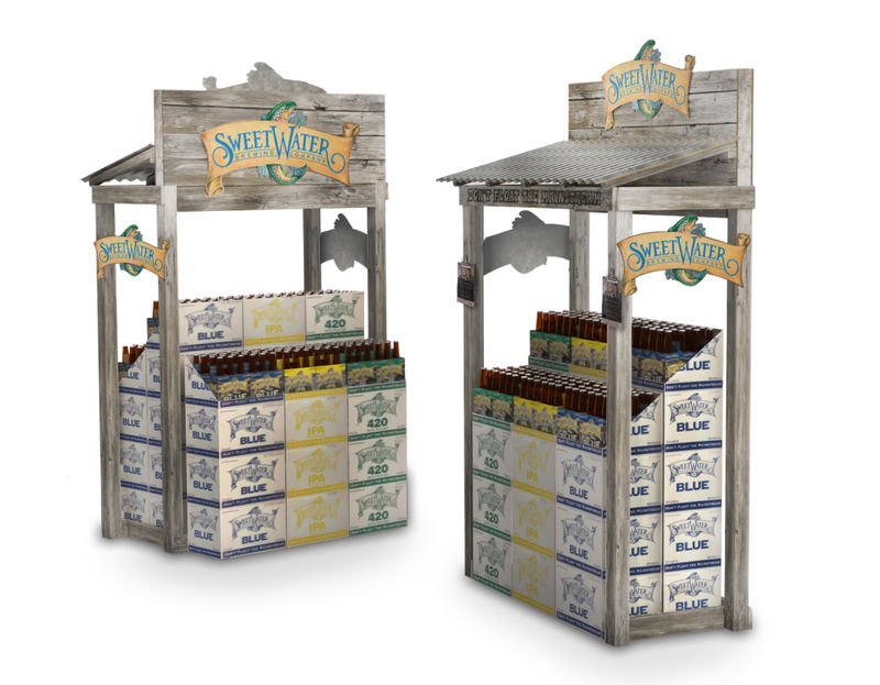 Fishing Shack Beer Displays Retail Display