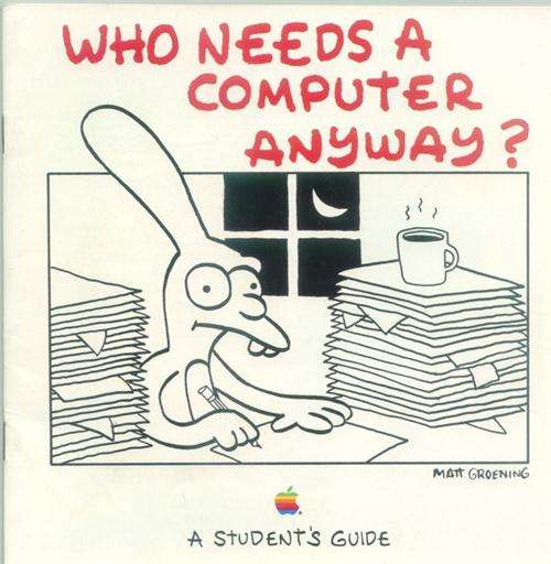 retro Matt Groening Apple ads